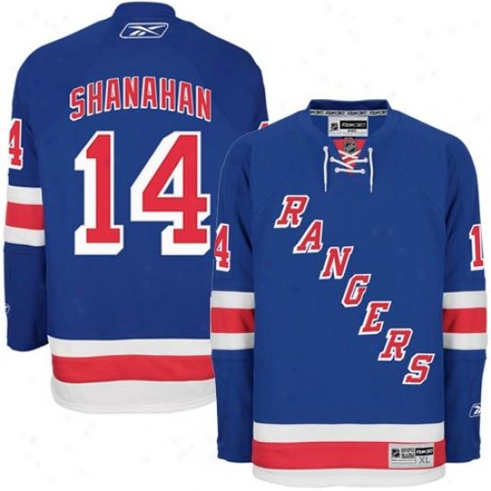 New York Rangers Jersey : Reebok New York Rangers #14 Brenddan Shanahan Kingly Blue Premier Hockey Jersey