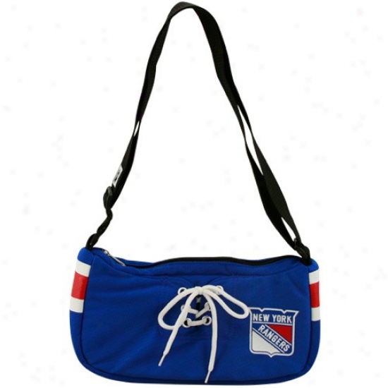 New York Rangers Ladies Roal Blue Hockey Jerssey Purse