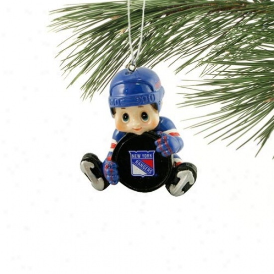 New York Rangers Lil' Fan Hockey Player Resin Ornament