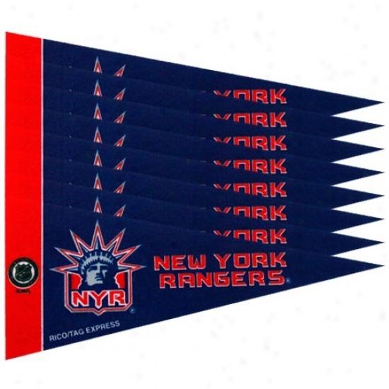 New York Rangers Navy Blhe 8-pack Min iPennant Set