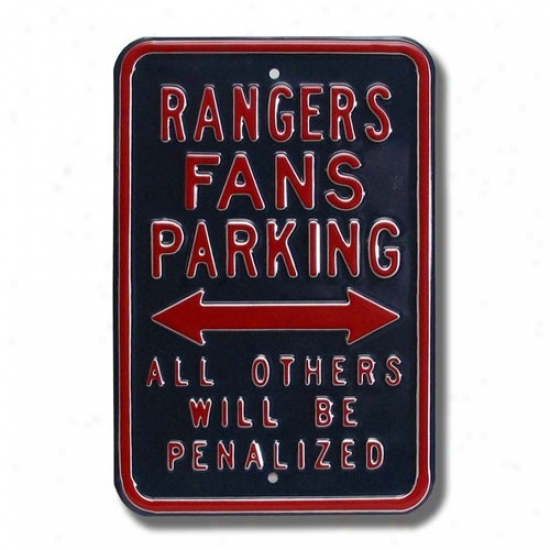 New York Rangers Navy Blue Parking Sign