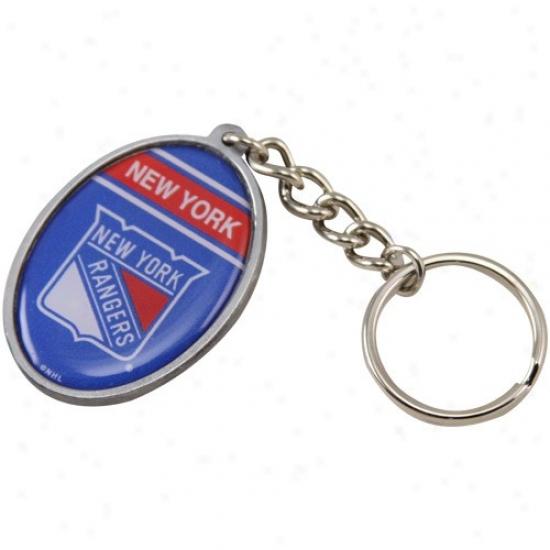 New York Rangers Oval Keychain