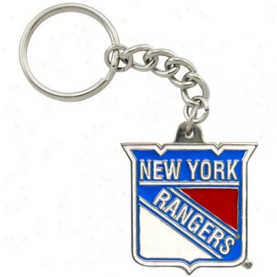 New York Rangerq Pewter Primary Logo Keychain