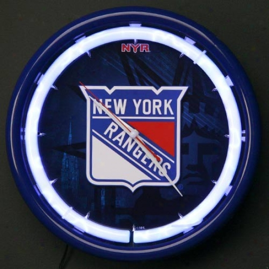 New York Rangers Plasma Wall Clock