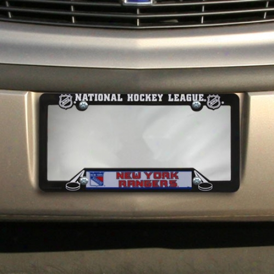 New York Rangers Plastic Hockey License Plate Frame