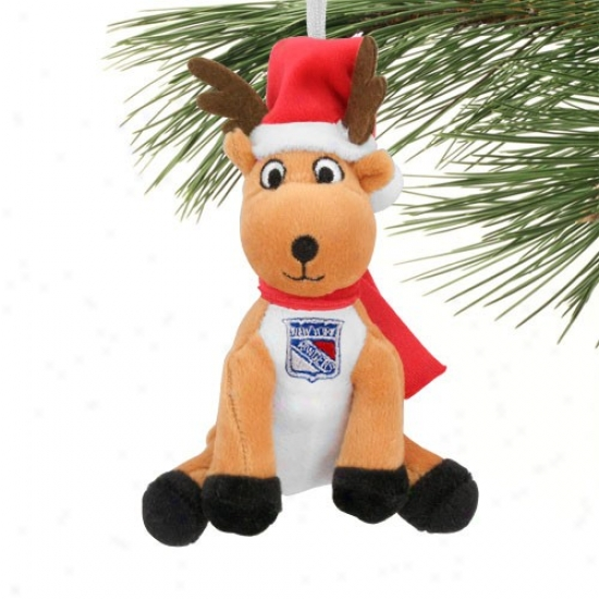New York Rangers Plush Reindeer Ornament
