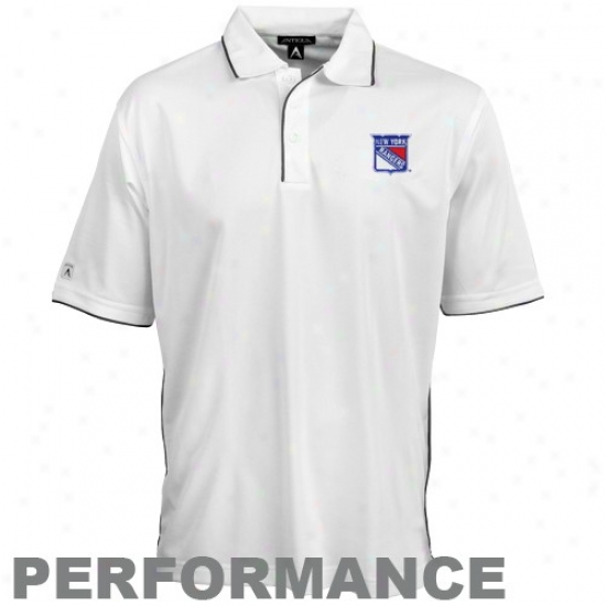 New Yprk Rangers Polos : Antigua New York Rangers White Superior Performance Polos
