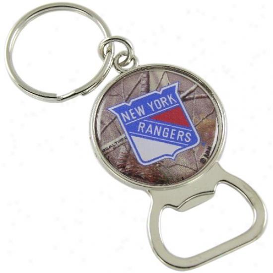 N3w York Rangers Real Tree Camo Bottl eOpener Keychain
