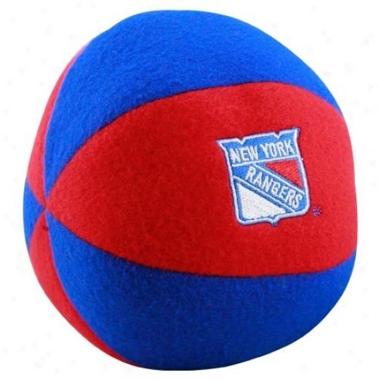 New York Rangers Red-royal Blue Plush Team Ball Jabberer