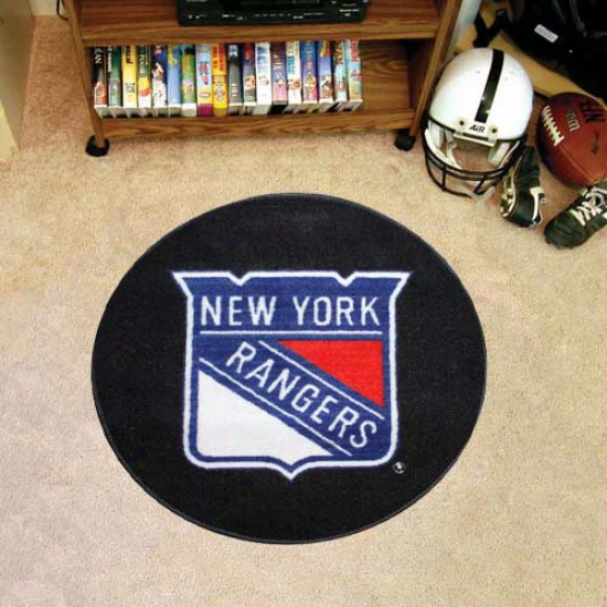 New York Rangers Cycle Hockey Puck Mat