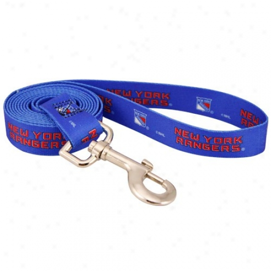 New York Rangers Royal Blue 6' Pet Leash