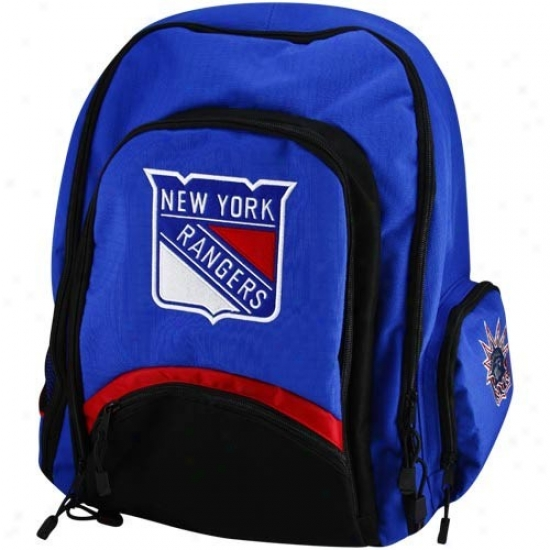 New York Rangers Royal Blue-black Lancer Backpack