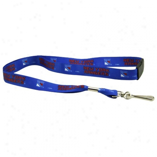 New York Rangers Royal Blue Event Lanyard