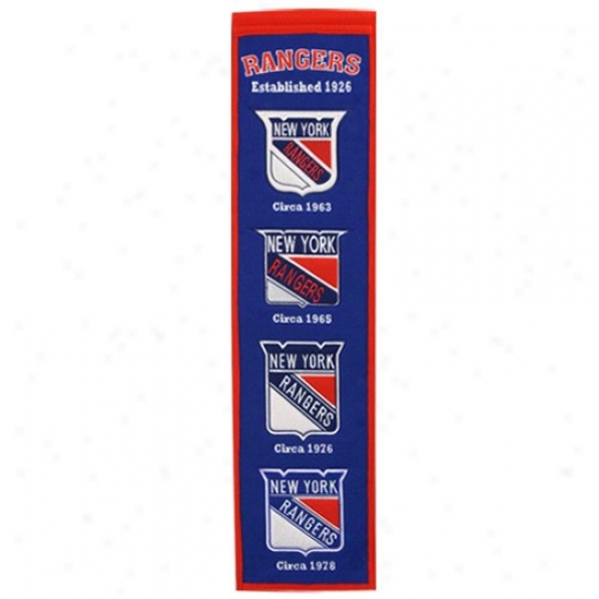 New York Rangers Royal Blue Heritage Banner