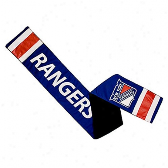 New York Rangers Royal Blue Jersey Scarf