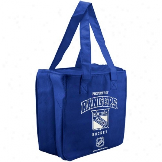 New York Rangers Royal Blue Reusable Insulated Tote Bag