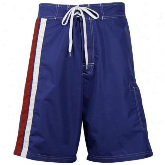 New York Rangers Royal Blue Team Logo Boardshort