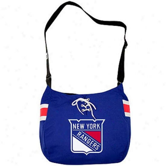 New York Rangers Royal Blue Veteran Jersey Tote Bag