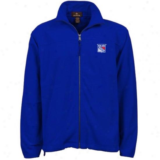 New York Rangers Sweat Shirts : Antigua New York Rangers Royal Blue Score Full Zip Sweat Shirts Jacket