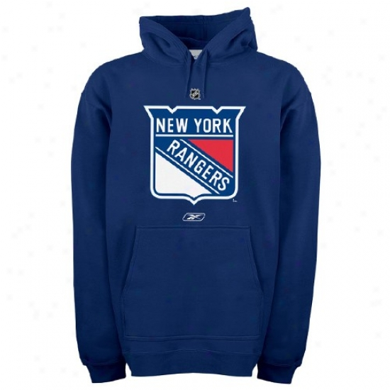 New York Rangers Sweat Shirts : Reebok New York Rangeds Navy Blue Primary Lobo Sweat Shirts