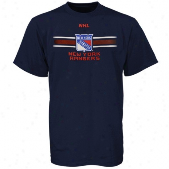 New York Rangers T-shirt : Majestic New York Rangers Navy Blue Earned Victory T-shirt