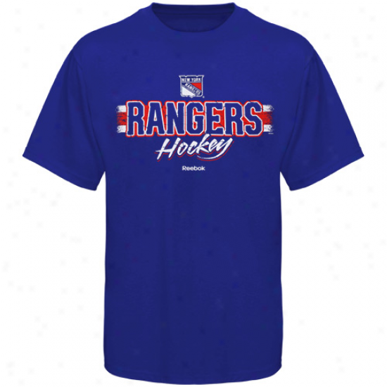 New York Rangers T Shirrt : Reebok Starting a~ York Rangers Royal Blue Allegiance T Shirt