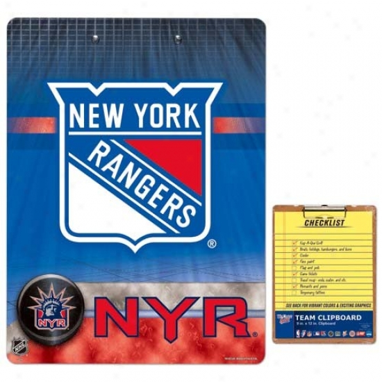 New York Rangers Team Logo Clipboard