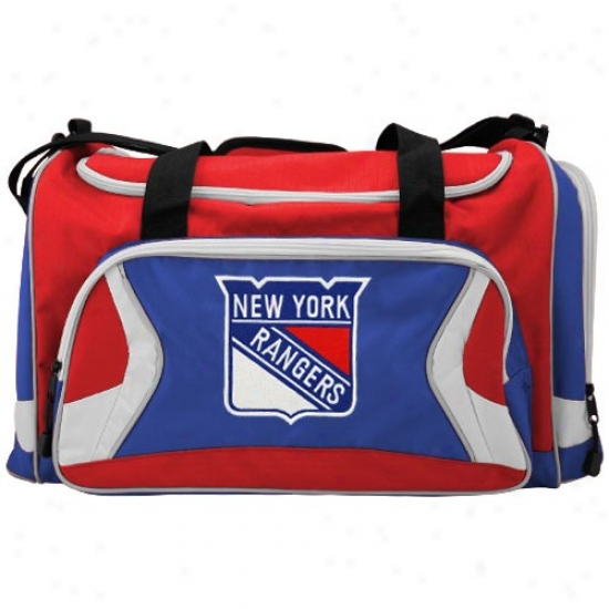 Novel York Rangers Tram Logo Duffle Bag