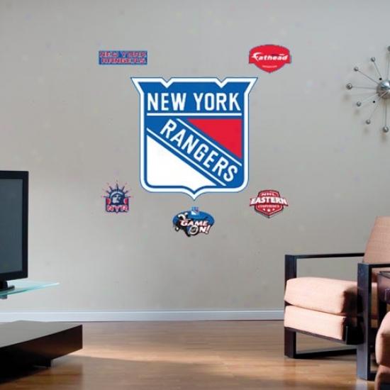 New York Rangers Team Logo Fathead Wall Sticker