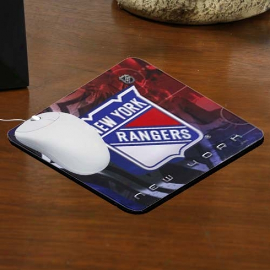 New York Rangers Team Logo Neoprene Mousepad