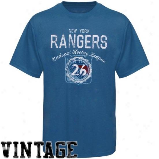 New York Rangers Tee : Old Time Hockey Nrw York Rangers Royal Blue Morrison Vintage Tee