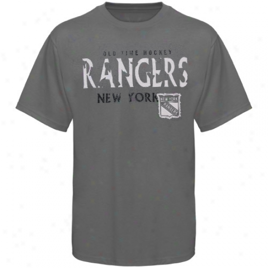 New York Ramgers Tees : Old Time Hockey New York Rangers Charcoal St. Croix Tees