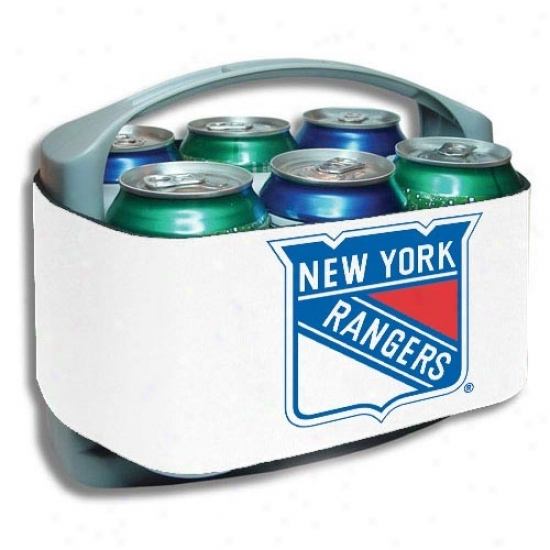 New Ylrk Rangers White Cool Six Cooler