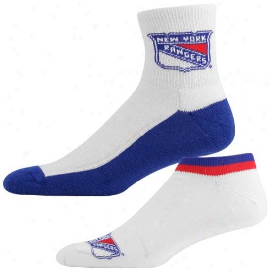 Unaccustomed York Rangers White-royal Bluee Two-pack Socks