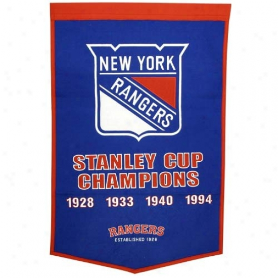 New York Rangers Wool Dynasty Banner