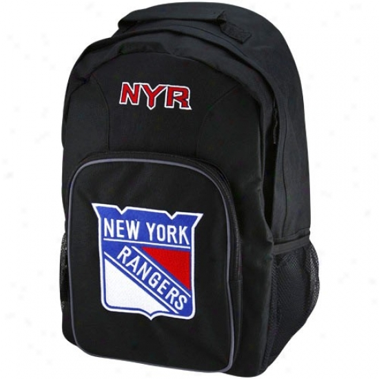 New York Rangers Youth Black Southpaw Backpack