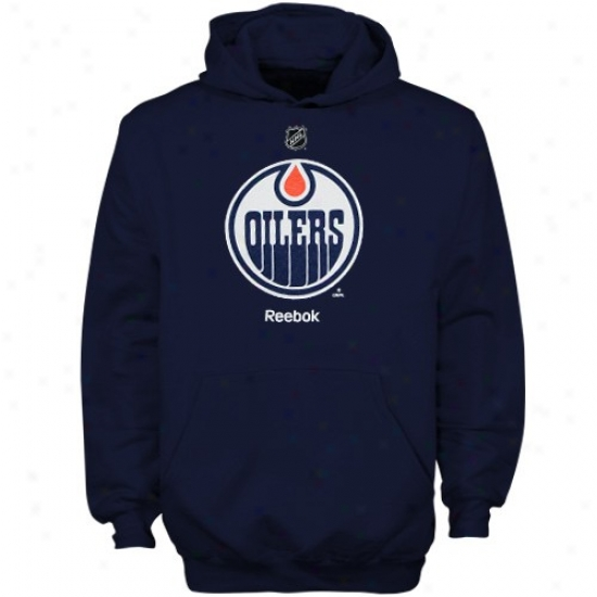 Oilers Sweat Shirt : Reebok Oilers Youth Navy Blue Primary Logo Sweat Shirt