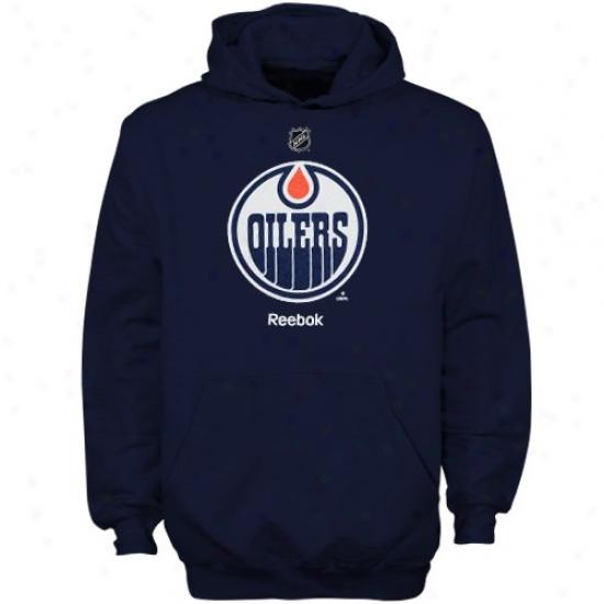 Oilers Sweat Shirt : Reebok Oilers Youth Navy Blue Primary Logo Sweat Shirt