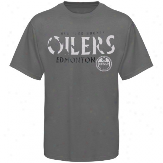 Oilers T -shirt : Old Time Hockey Oilers Charcoal St. Croix T-shirt