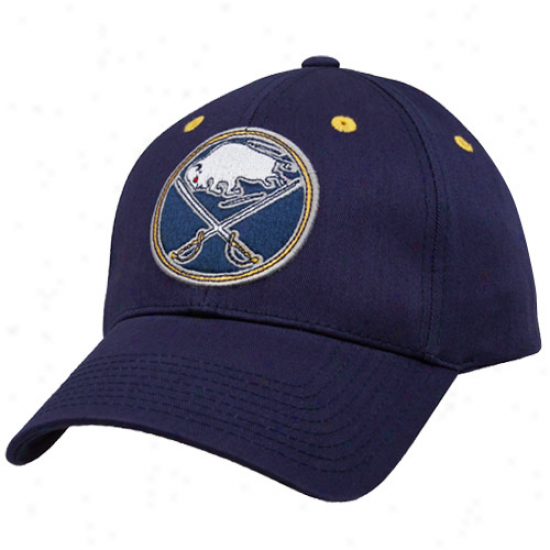 Old Time Hockkey Buffalo Sabres Ships of war Azure Parker Flex Fit Hat