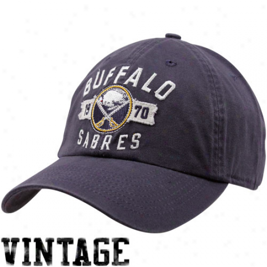 Old Time Hockey Buffalo Sabres Navy Blue Rangeley Adjustable Hat