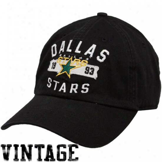 Old Time Hockey Dallas Stars Black Ranegley Adjustable Hat