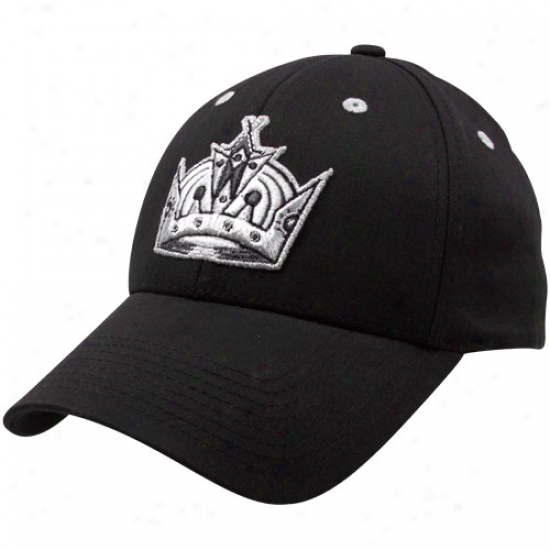 Old Time Hockey Los Angeles Kings Black Parkre Flex Fit Hat