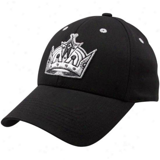 Old Time Hockey Los Angeles Kings Black Parkre Flex Fit Hat
