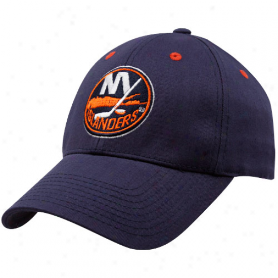 Old Time Hockey New York Islanders Navy Blue Parker Flex Fit Hat