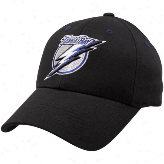 Old Time Hockey Tampa Bay Lightning Black Parker Flex Fit Hat