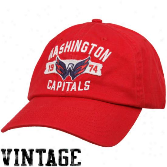Old Time Hockey Washington Capitals Red Rangeley Adjustable Hat