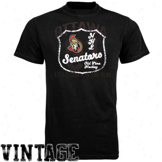 Ottawa Senator T-shirt : Old Time Hockey Oytawa Senator Murky Captain T-shirt
