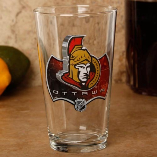 Ottawa Senators 17 Oz. Enhanced Hi-de fMixing Glass