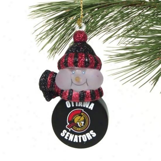 Ottawa Senators All-star Light-up Snowman Ornament